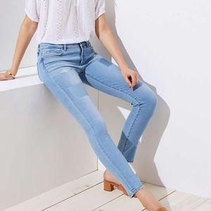 Loft Modern Patch Skinny Jeans 25/0